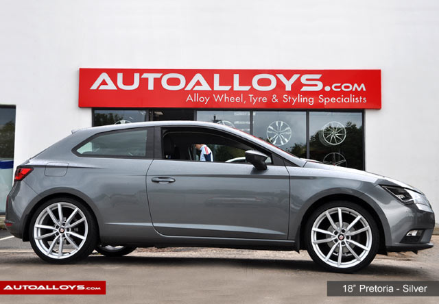Seat Leon 13 On (5F) 18 inch RAW Pretoria Style Alloy Wheels - Silver
