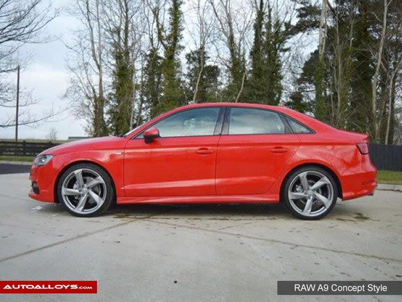 Audi A3                                                    Raw A9 Style Alloy Wheels