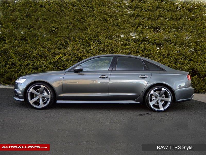 Audi A6                                                    Raw TTRS Style alloy Wheels