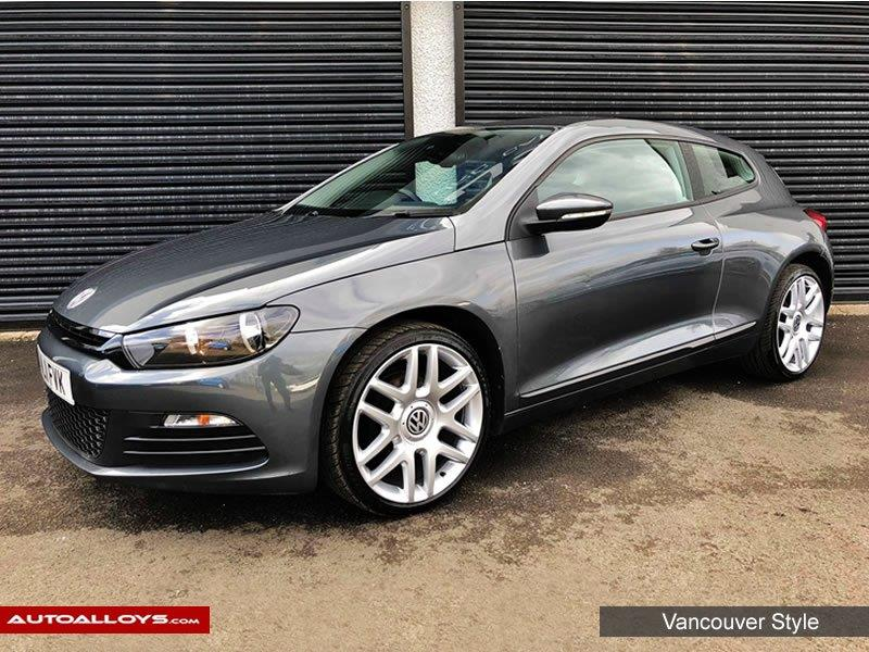 Volkswagen Scirocco                                                    Raw Vancouver Style alloy Wheels