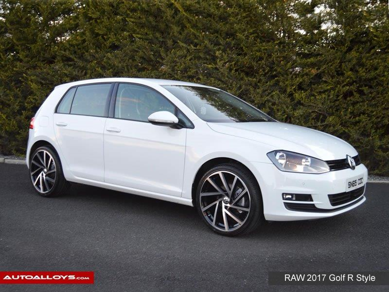 Volkswagen Golf                                                    Raw 2017 Golf R Style alloy Wheels
