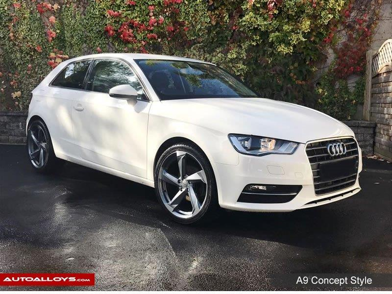 Audi A3                                                    Raw A9 Concept Style Alloy Wheels