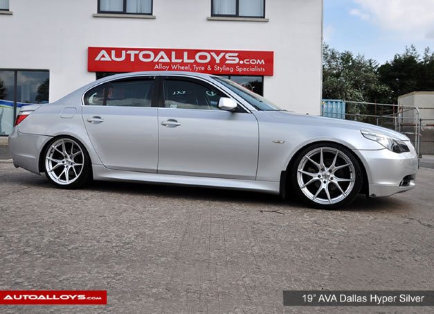 BMW 5 Series 03 - 10 (E60) 19 inch AVA Dallas Hyper Silver Alloy Wheels