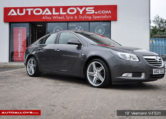 Vauxhall Insignia 09 On 19 inch Veemann V-FS31 Silver Machined