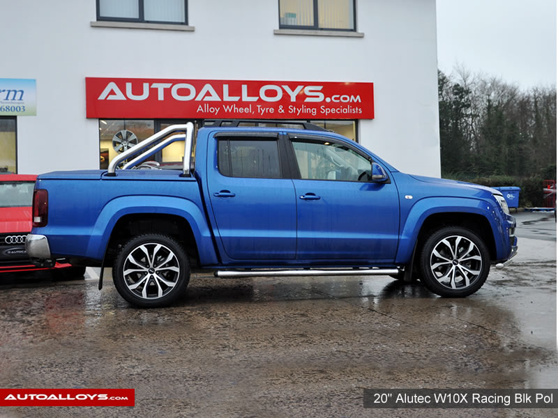 Volkswagen Amarok 2010 on   20 inch Alutec W10X Racing Black Polished