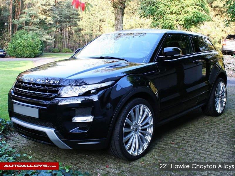 Land Rover Evoque                                                    22 inch Hawke Chayton Silver Alloy wheels