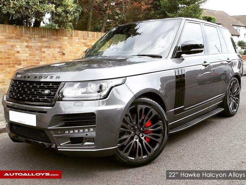 Land Rover Range Rover Sport                                                    22 inch Hawke halcyon Black shadow Alloy wheels