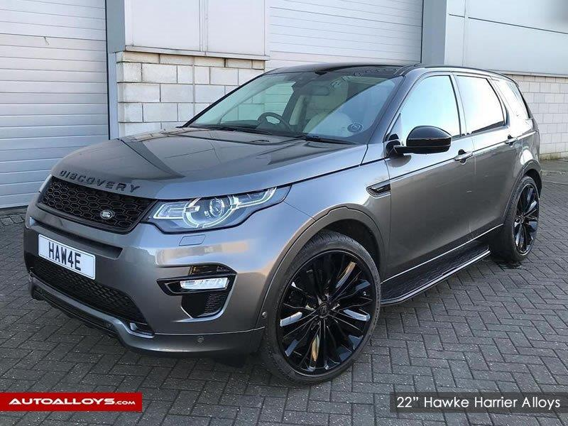 Land Rover Discovery                                                    22 inch Hawke harrier stealth Alloy wheels
