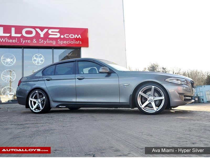 BMW 5 Series                                                    Ava Miami Hyper Silver Alloy Wheels