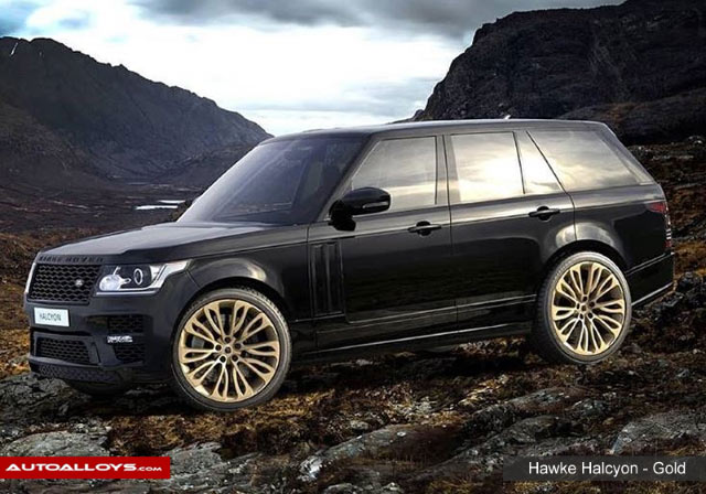 Land Rover Range Rover                                                    Hawke Falkon Gold Alloy Wheels