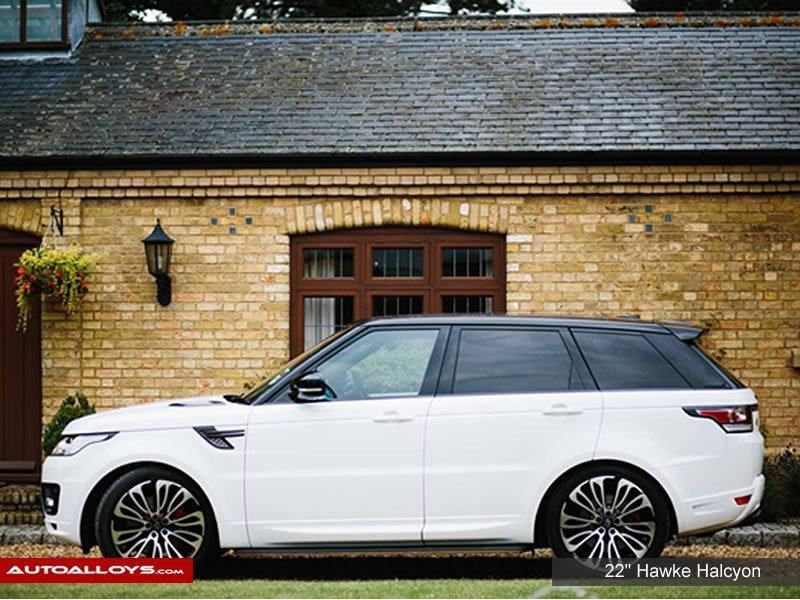 Land Rover Range Rover Sport                                                    22 inch Hawke Falkon Black Polished Alloy Wheels