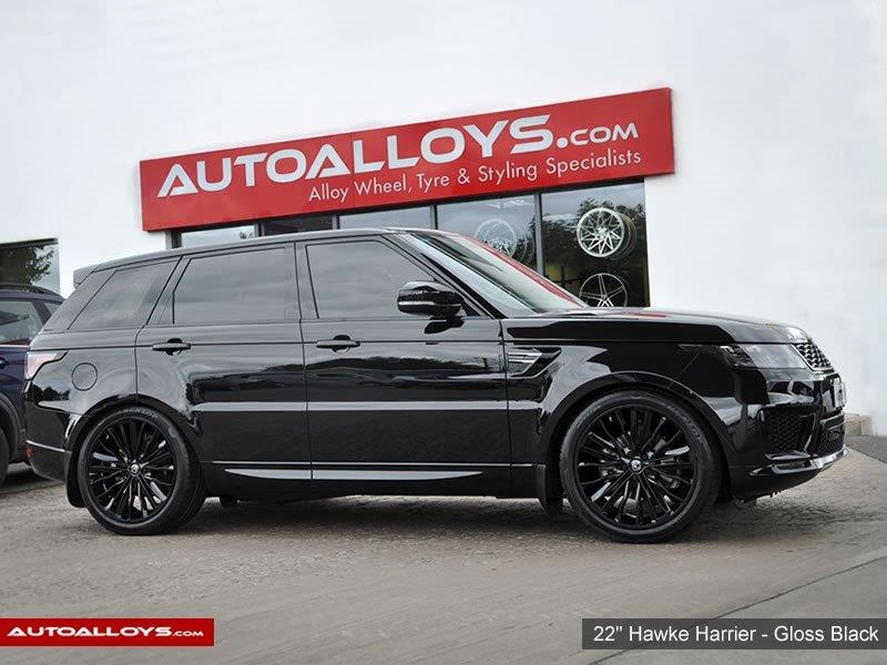 Land Rover Range Rover Sport                                                    22 inch Hawke Harrier Gloss Black Alloy Wheels