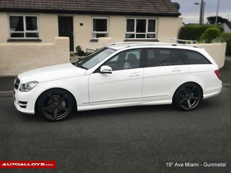 Mercedes C Class                                                    19 inch Ava Miami Gunmetal Alloy Wheels