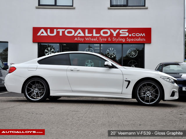 BMW 4 Series 13 On (F32) 20 inch Veemann V-FS39 Gloss Graphite