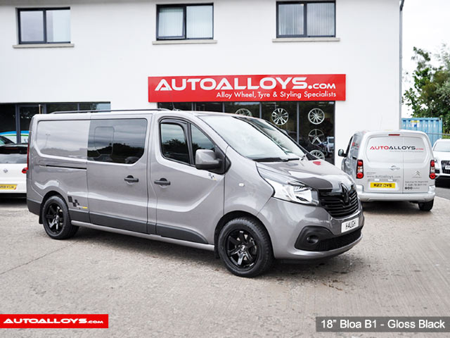 Renault Trafic 15 On 18 inch Bola B1 Gloss Black