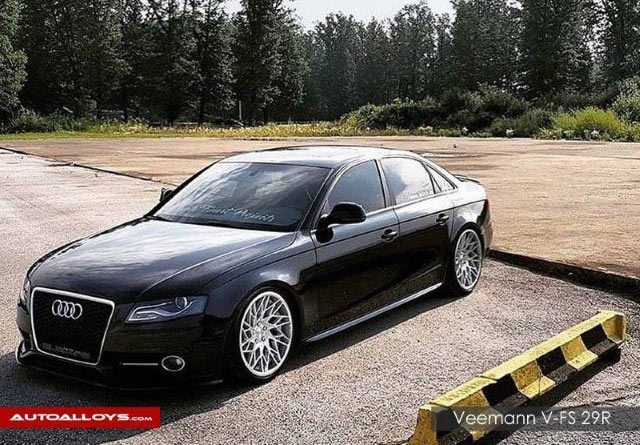 Audi A4                                                    Veemann V-FS 29R Silver Machined Alloy Wheels