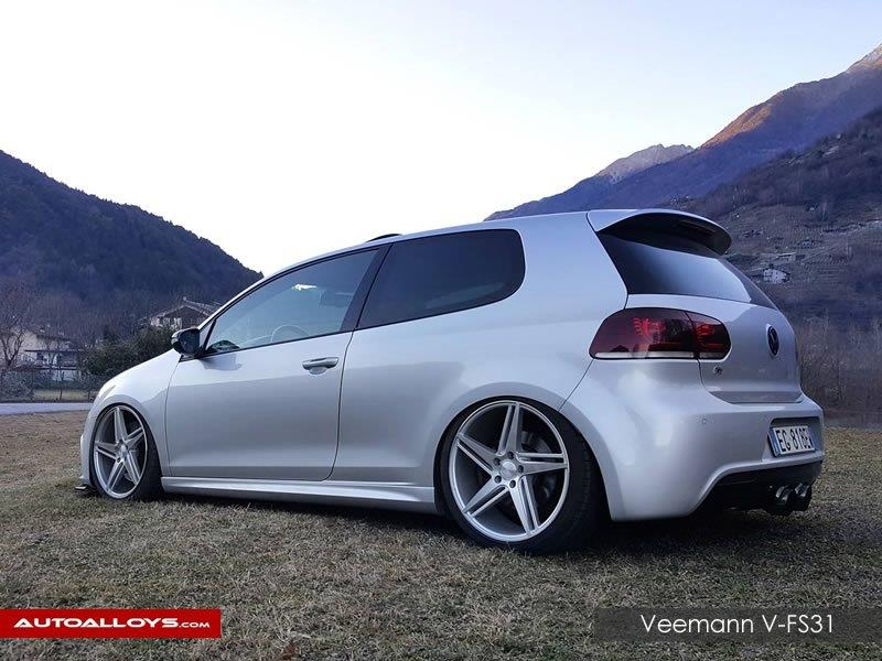 Volkswagen Golf                                                    Veemann V-fS31Silver Machined Alloy Wheels