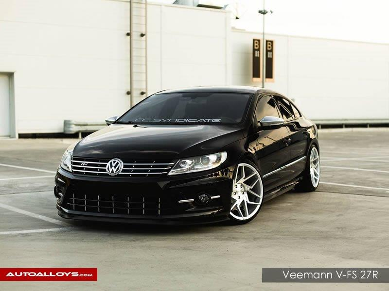 Volkswagen Passat CC                                                    Veemann V-fS 27R Silver Machined Alloy Wheels