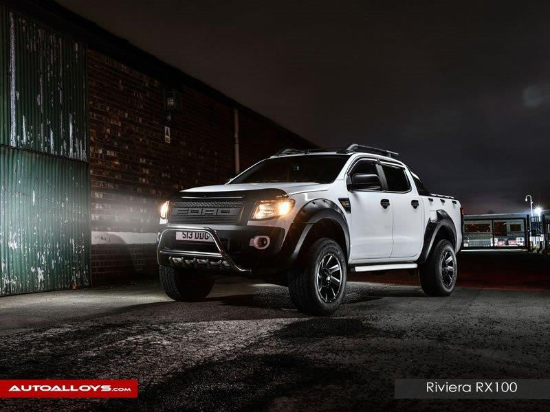 Ford ranger                                                    riviera RX100 black Polished Alloy Wheels