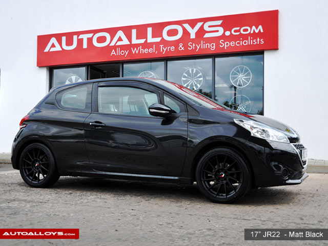 Peugeot 208 11 On (MK3) 17 inch Japan Racing JR22 Matt Black