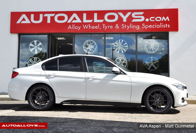 BMW 3 Series 12 On (F30) 19 inch AVA Aspen Matt Gun Metal Alloy Wheels