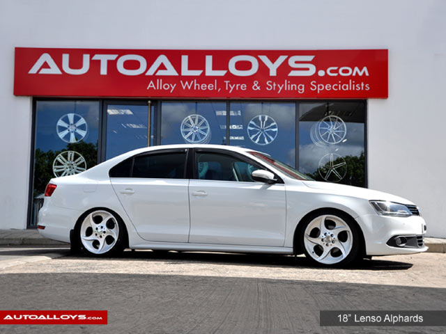 Volkswagen Jetta  11 On (MK6) 18 inch Lenso Alphards Alloy Wheels - Polished Silver