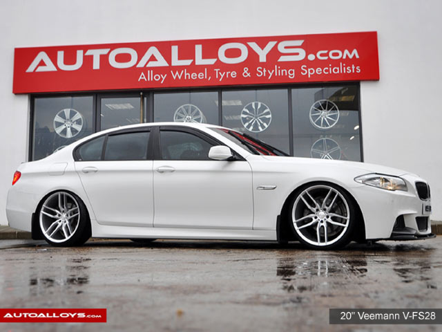 BMW 5 Series  2013 on  20 inch Veemann V-FS28 Silver Machined Alloy Wheels