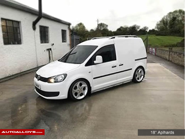 Volkswagen Caddy                                                    18 inch Lenso Alphards Alloy Wheels - Polished Silver