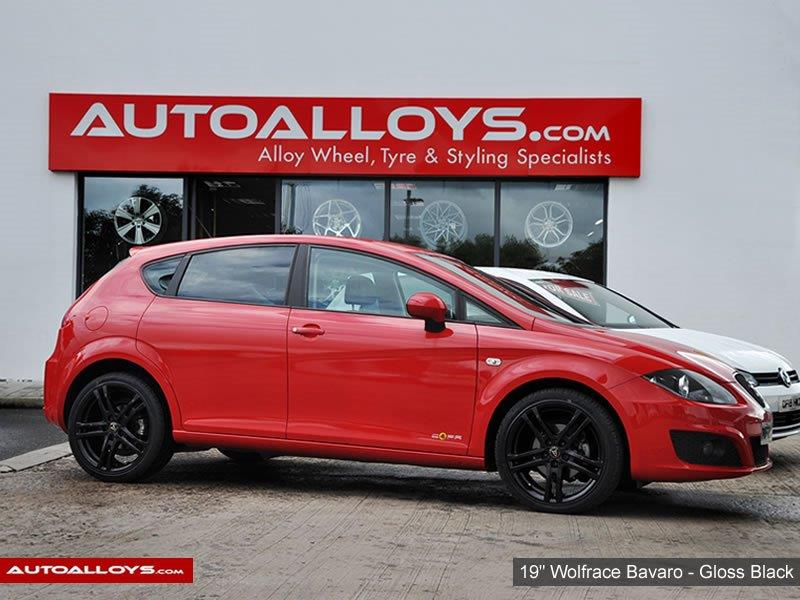 Seat Leon                                                    18 inch Wolfrace Bavaro Gloss Black Alloy Wheels