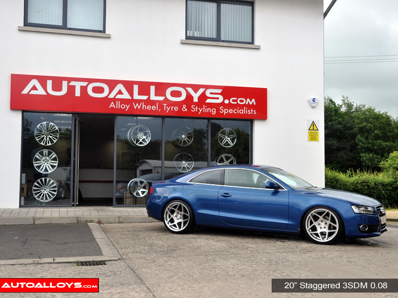 Audi A5 09 On 20 inch 3SDM 0.08 Alloy Wheels