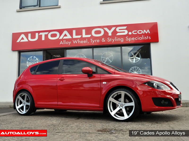Seat Leon 05 - 12 (1P) 19 inch Cades Apollo Alloy Wheels