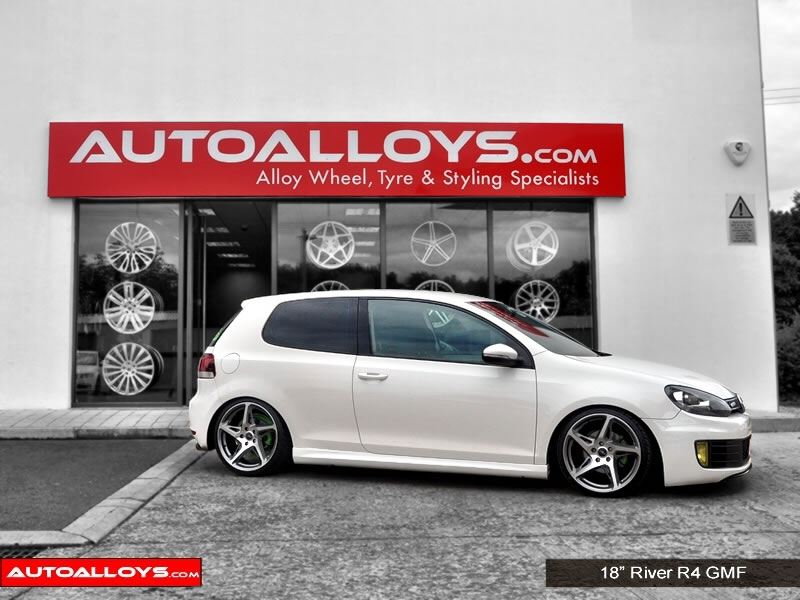 Volkswagen Golf 08 - 13 (MK6) 18 inch River R-4 Alloy Wheels