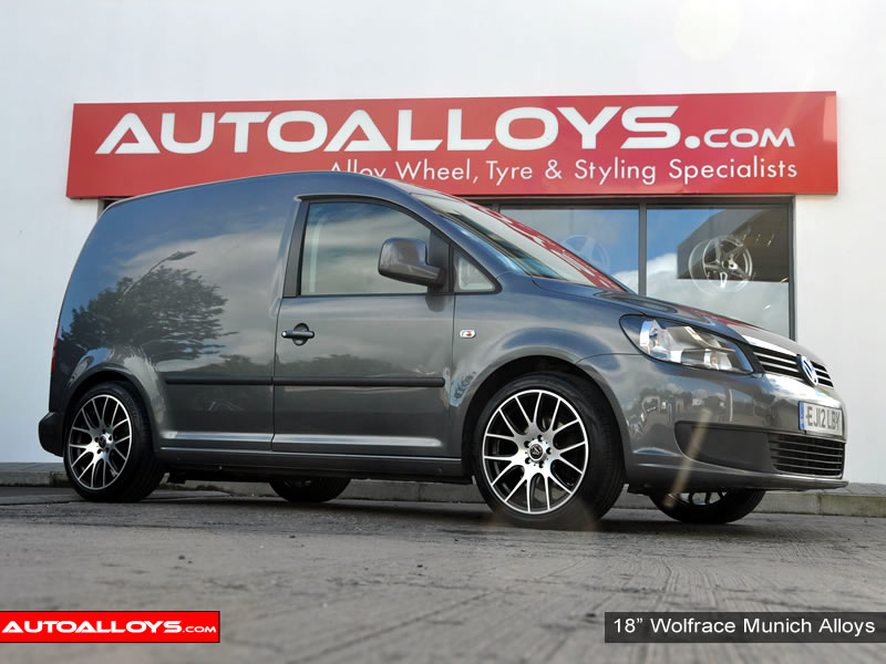Volkswagen Caddy 04 On (MK3) 18 inch Wolfrace Munich Alloy Wheels