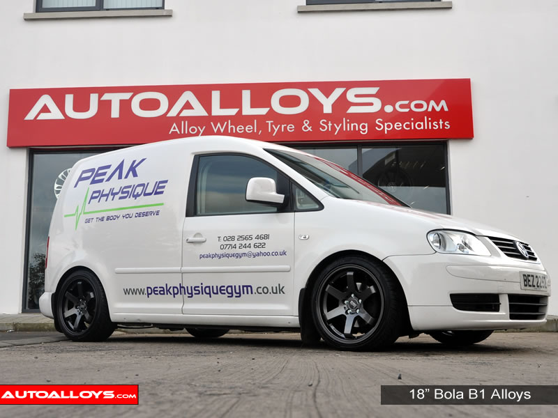 Volkswagen Caddy 04 On (MK3) 18 inch Bola B1 Gunmetal Alloy Wheels