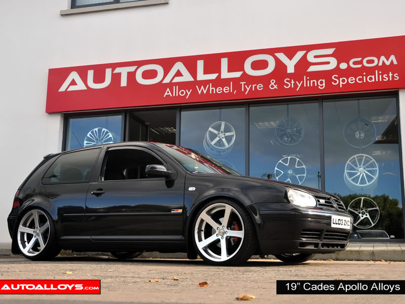 Volkswagen Golf 97 - 04 (MK4) 19 inch Cades Apollo Silver Alloy Wheels