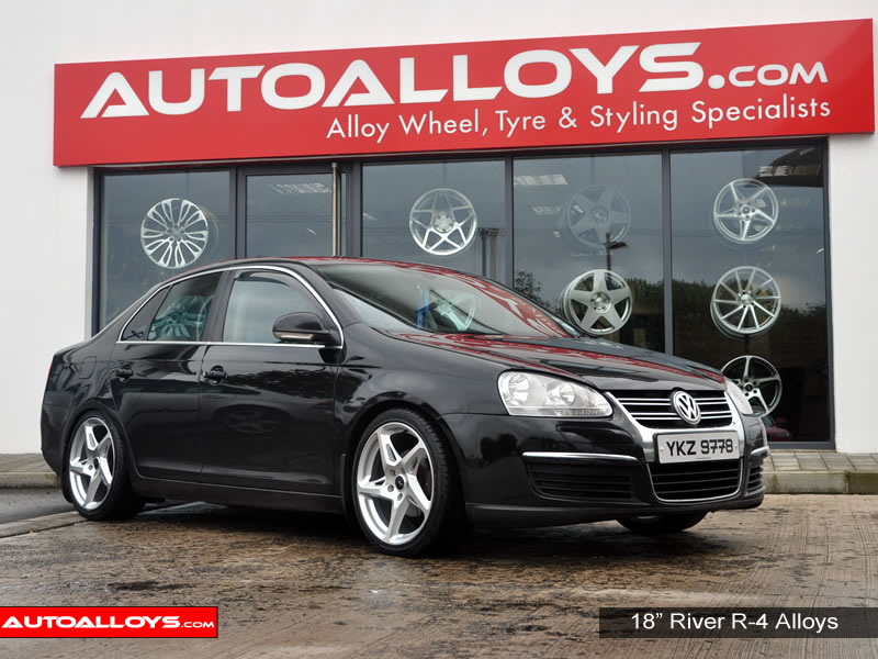 Volkswagen Jetta 11 On (MK6) 18 inch River R-4 MSMF Alloy Wheels