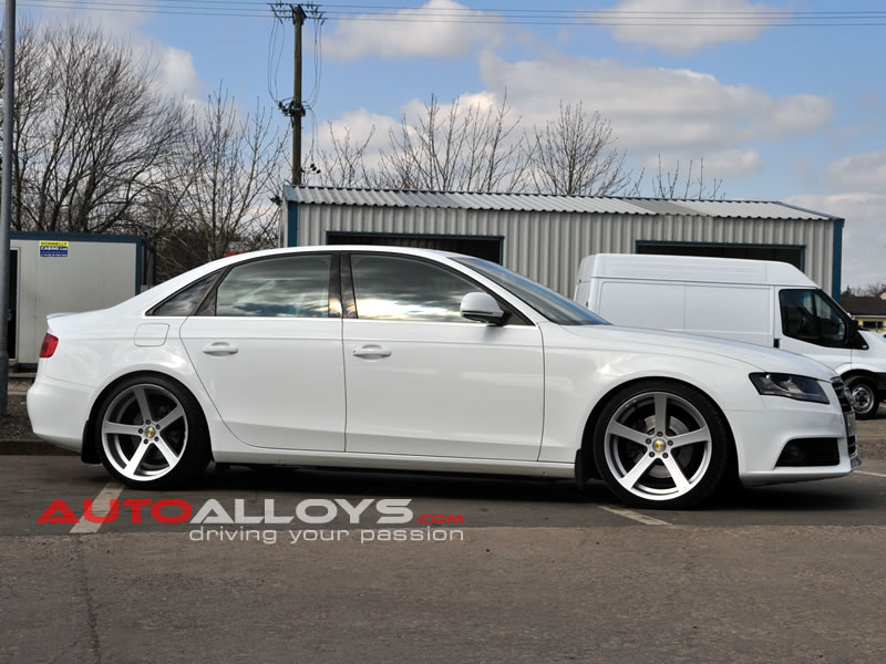 Audi A4 08 On (B8) 19 inch Cades Apollo Silver Alloy Wheels