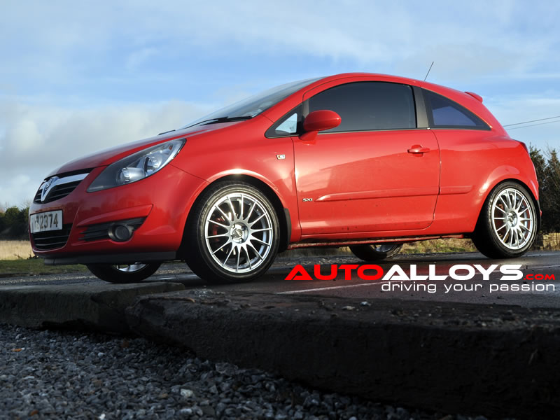 Vauxhall Corsa 06 On (D)(4 Stud) 17 inch Fox FX004 Silver Alloy Wheels