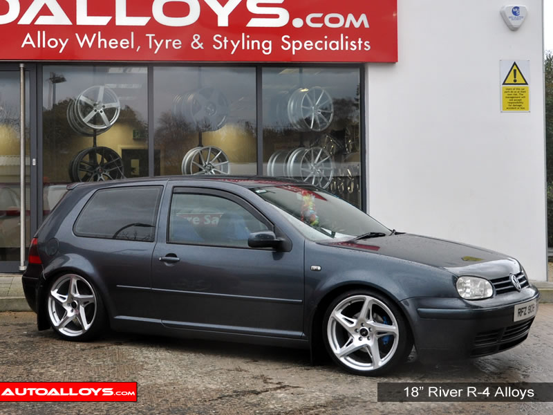 Volkswagen Golf 97 - 04 (MK4) 18 inch River R-4 MSMF Alloy Wheels