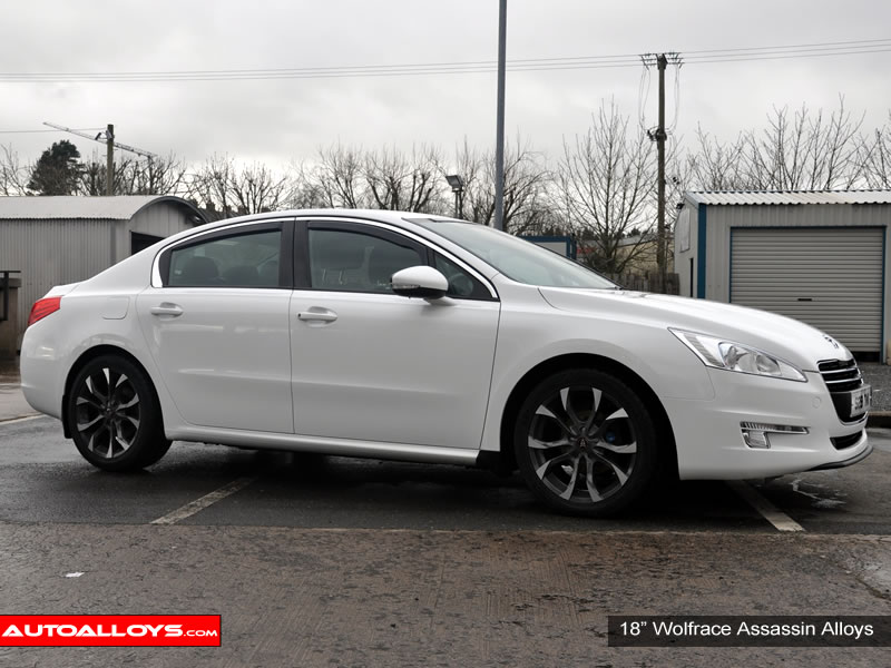 Peugeot 508 10 On 18 inch Wolfrace Assassin BPF Alloy Wheels