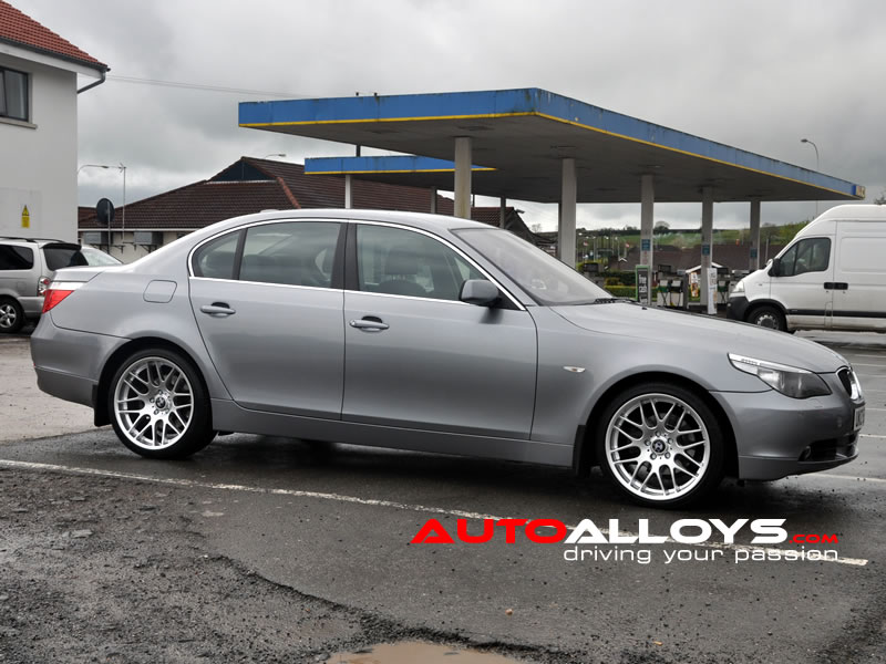 BMW 5 Series 03 - 10 (E60) 19 inch Riva DTM Silver Alloy Wheels