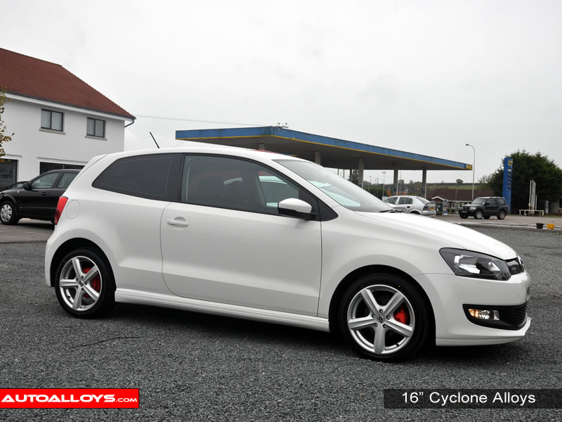 Volkswagen Polo 09 On (6R) 16 inch Team Dynamics Cyclone Silver Alloy Wheels
