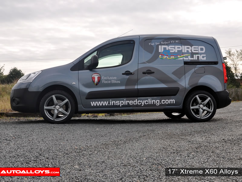 Citroen Berlingo 08 On 17 inch Xtreme X60 Gunmetal Alloy Wheels