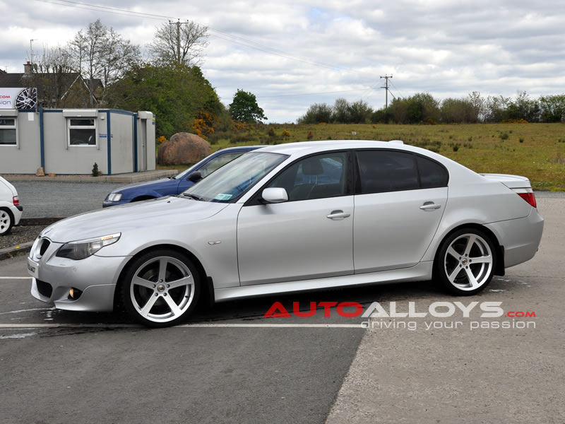 BMW 5 Series 03 - 10 (E60) 19 inch Cades Apollo Silver Alloy Wheels