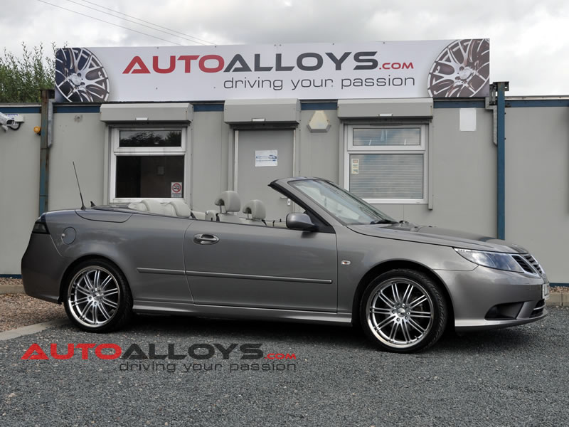Saab 9-3 07 On 19 inch Zito Belair SPL Alloy Wheels