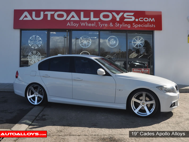 BMW 3 Series 05 - 12 (E90) 19 inch Cades Apollo Silver Alloy Wheels