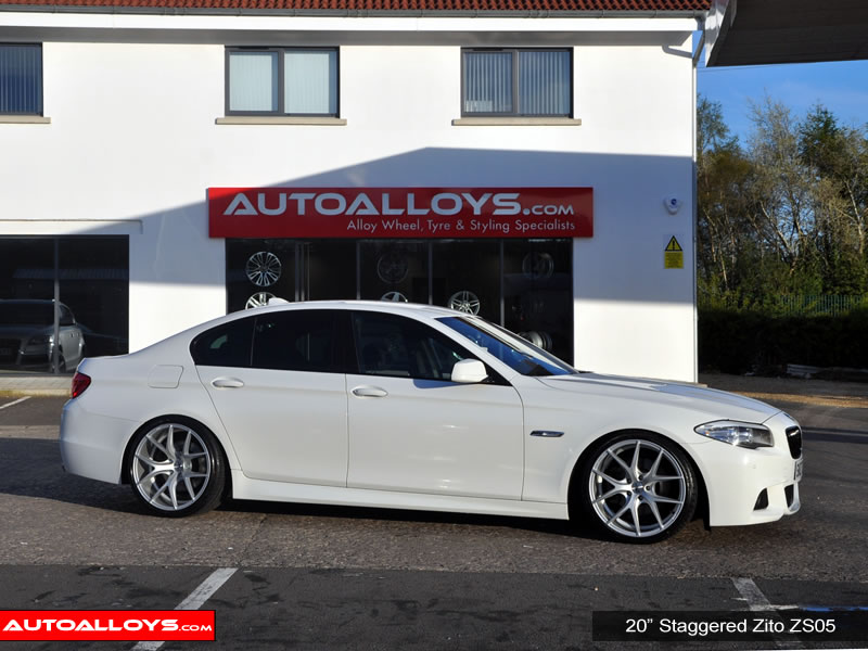 BMW 5 Series 10 On (F10) 20 inch Zito ZS05 Silver Alloy Wheels