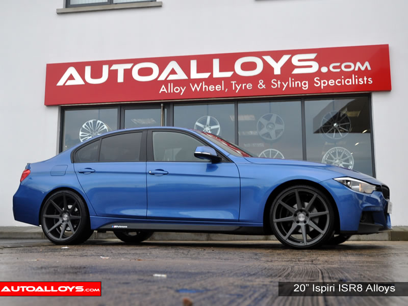 BMW 3 Series 12 On (F30) 20 inch Ispiri ISR8 Gunmetal Alloy Wheels