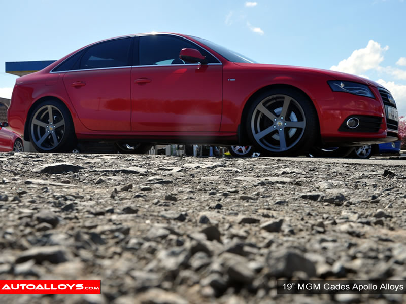 Audi A4 08 On (B8) 19 inch Cades Apollo Black Alloy Wheels