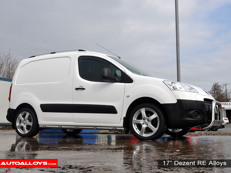 Peugeot Partner 08 On 17 inch Dezent RE alloy wheels